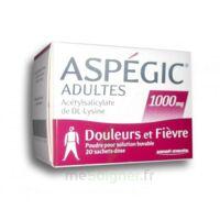 ASPEGIC ADULTES 1000 mg, poudre pour solution buvable en sachet-dose 20 à Forbach