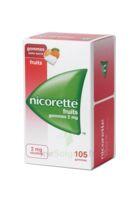 Nicorette 2 mg Gomme à mâcher médicamenteuse sans sucre fruits Plq/105 à Forbach