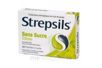 STREPSILS CITRON SANS SUCRE, pastille édulcorée à l'isomalt, au maltitol et à la saccharine sodique à Forbach