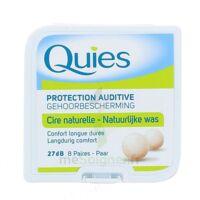 QUIES PROTECTION AUDITIVE CIRE NATURELLE 8 PAIRES à Forbach