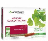Arkofluide Bio Ultraextract Solution Buvable Mémoire Concentration 20 Ampoules/10ml à Forbach