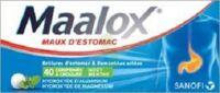 MAALOX HYDROXYDE D'ALUMINIUM/HYDROXYDE DE MAGNESIUM 400 mg/400 mg Cpr à croquer maux d'estomac Plq/40 à Forbach