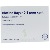 BIOTINE BAYER 0,5 POUR CENT, solution injectable I.M. à Forbach