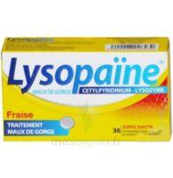 LYSOPAÏNE MAUX DE GORGE CETYLPYRIDINIUM LYSOZYME FRAISE SANS SUCRE, comprimé à sucer édulcoré au sorbitol et à la saccharine à Forbach