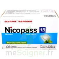 Nicopass 1,5 mg Pastille sans sucre menthe fraîcheur Plq/96 à Forbach