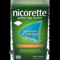 Nicorette 2 mg Gomme à mâcher médicamenteuse sans sucre fruits Plq/30 à Forbach