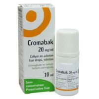 CROMABAK 20 mg/ml, collyre en solution à Forbach