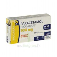 PARACETAMOL BIOGARAN 500 mg, comprimé Fl/16 à Forbach